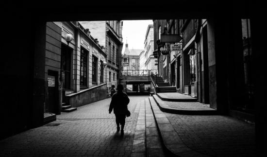 Old people, empty city. Bielsko-Biala 01