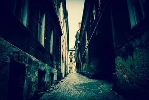Old people, empty city. Bielsko-Biala 02