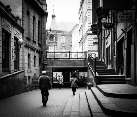 Old people, empty city. Bielsko-Biala 03