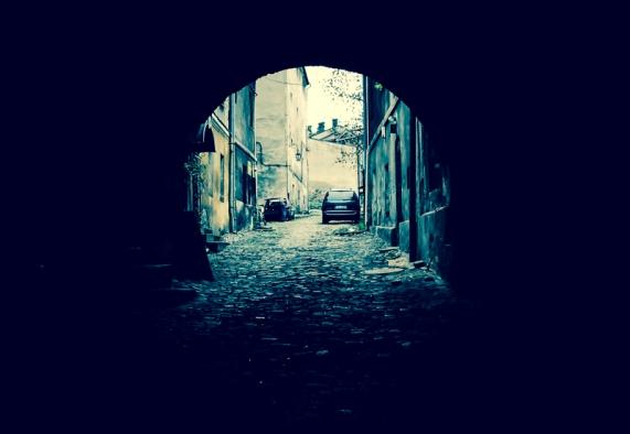 Old people, empty city. Bielsko-Biala 04