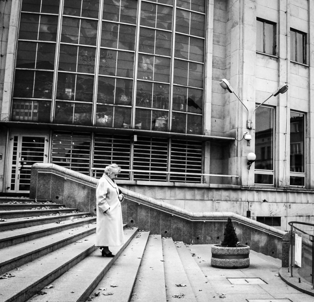 Old people, empty city. Bielsko-Biala 05