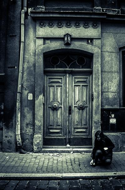 Old people, empty city. Bielsko-Biala 06