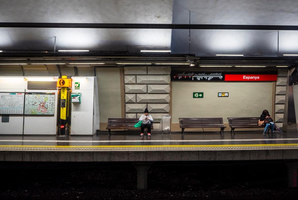 Barcelona, metro Espanya